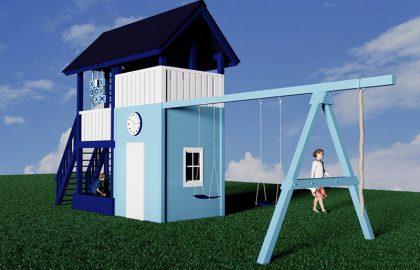 Классический детский деревянный городок Лис2