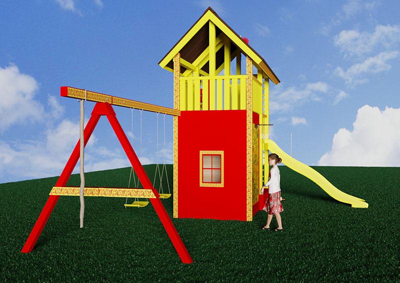 Детский городок Лис2-хохлома